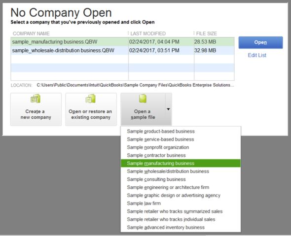 Open-an-sample-company-file