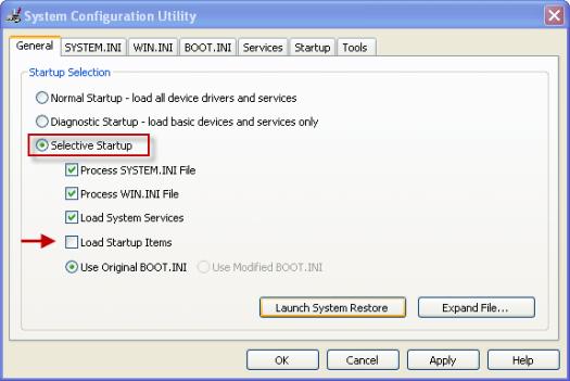 system-configuration-utility-settings