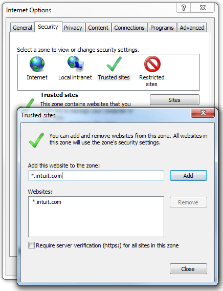 Adding-Intuit-as-trusted-site-Screenshot